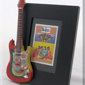 Beatles Magical Mystery Tour Tribute Guitar Frame